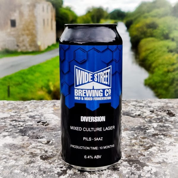 A can mixed fermentation lager called Diversion
