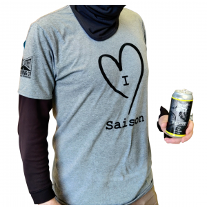 I love Saison grey tee shirt men's