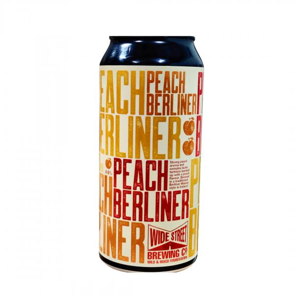 Peach Berliner beer can