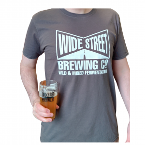 Wide Street Men's tee shirt Charcoal